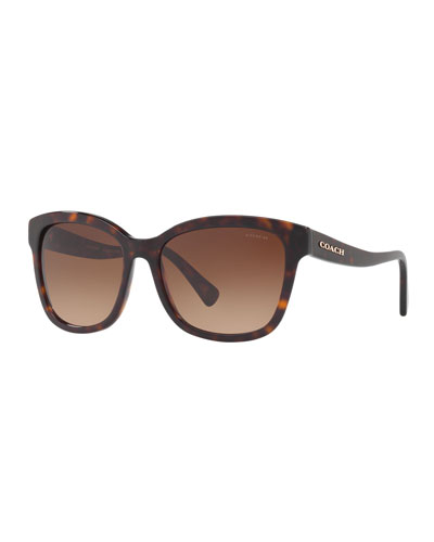 Square Gradient Sunglasses w/ Curved Arms