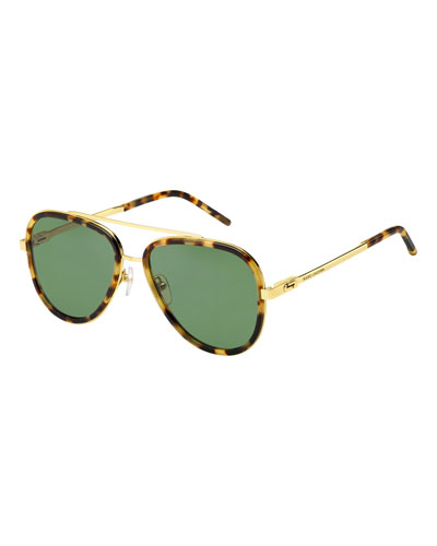 Marc Jacobs Metal & Plastic Aviator Sunglasses