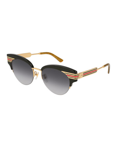 6ae9bc5476a Metal   Acetate Cat-Eye Sylvie Web Sunglasses