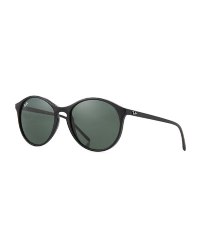 Round Monochromatic Sunglasses