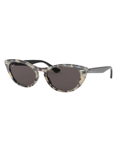 Cat-Eye Monochromatic Sunglasses