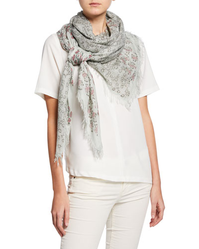 Acacia Floral Patchwork Scarf