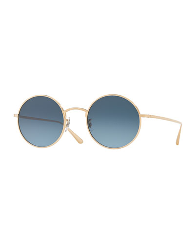 2d5cea917a After Midnight Round Metal Sunglasses