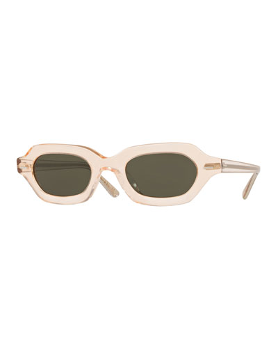 7de1c256ca5 L.A. CC Rectangle Acetate Sunglasses