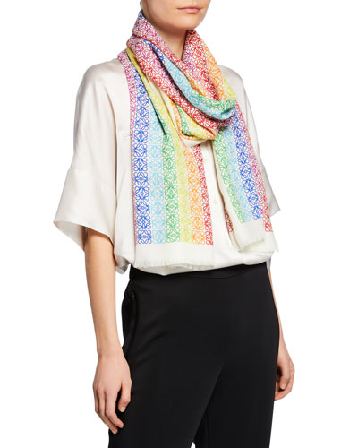 Rainbow Anagram Scarf