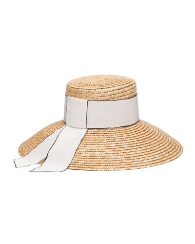 c519a99170bda Eugenia Kim Headwear. Annabelle Woven Straw Sun Hat w  Grosgrain Band