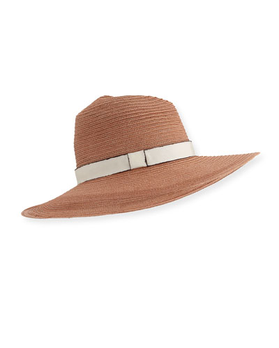 9f0c40174b1 Emmanuelle Woven Sun Hat