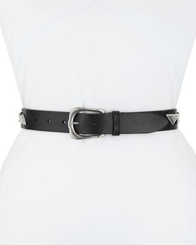 Etoile Isabel Marant Nyzo Embellished U-Buckle Leather Belt