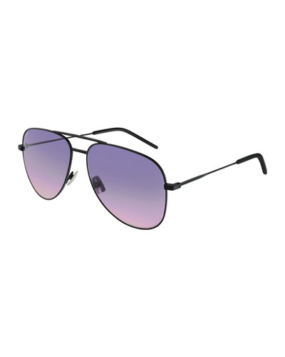 Classic 11 Monochromatic Aviator Sunglasses