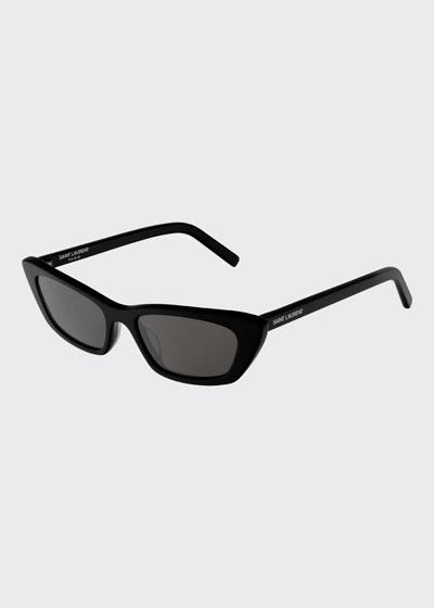 Slim Rectangle Acetate Sunglasses