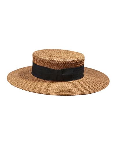 Gondolier Woven Boater Hat