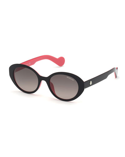 Gradient Oval Plastic Sunglasses