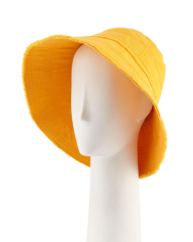 Mattie Bucket Hat in Orange