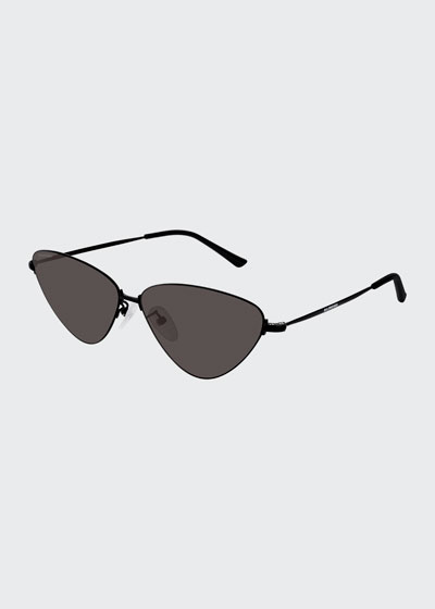 Slim Metal Cat-Eye Sunglasses
