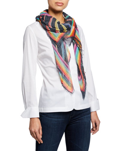Thousand Positive Thoughts Rainbow Scarf
