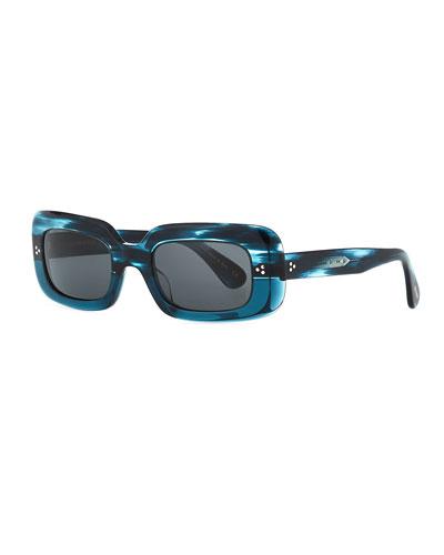 Saurine Rectangle Acetate Sunglasses