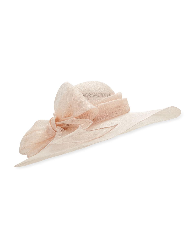 Marzi Hats CAPELINA SISAL HAT W/ BOW