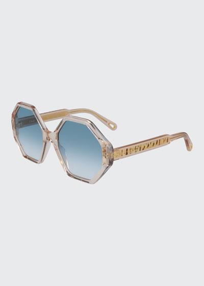 Hexagonal Acetate Sunglasses
