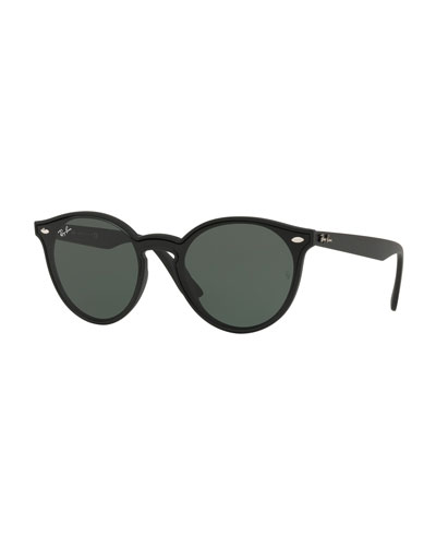 641742eb40 Ray-ban Round Wayfarer Sunglasses. Round Lens-Over-Frame Plastic Sunglasses  Quick Look