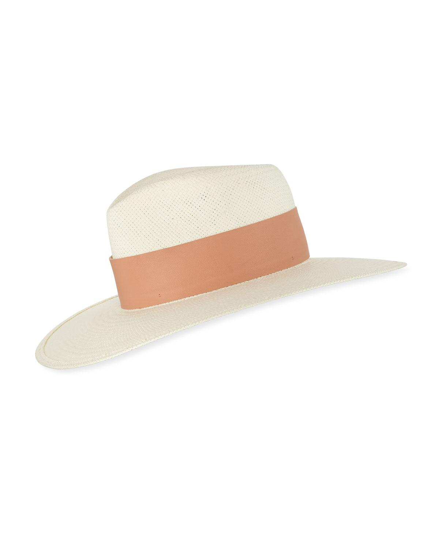 Janessa Leone Hats CLEMENCE STRAW COWBOY HAT