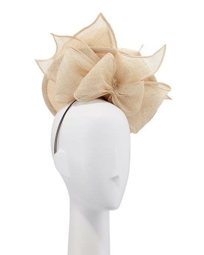 85e713c97dc00 Structured Disc   Bows Natural Straw Hat
