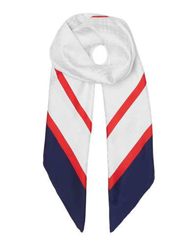 Archive Society Print Silk Square Scarf