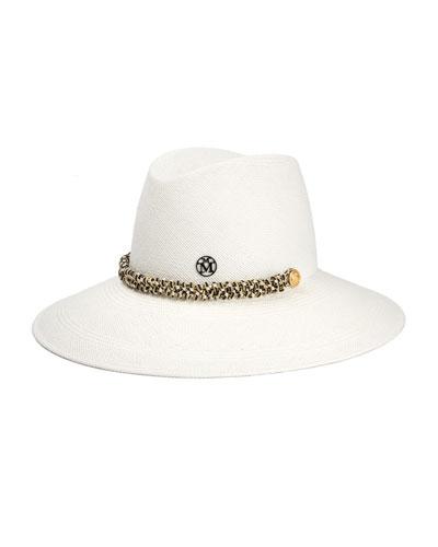 Kate Fedora Hat w/ Multicolored Trim