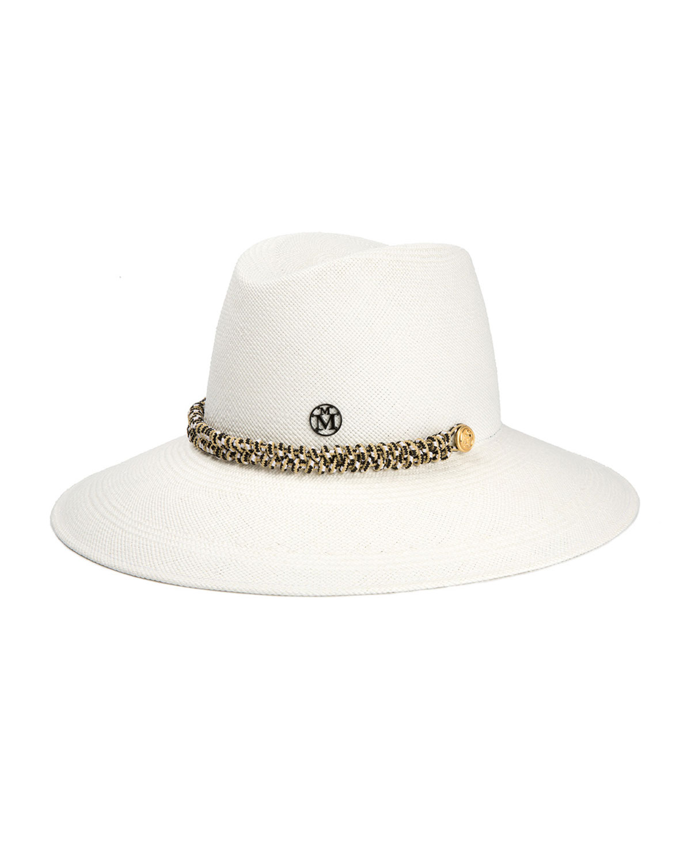 Maison Michel Hats KATE FEDORA HAT W/ MULTICOLORED TRIM