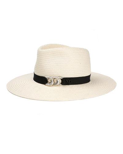 Charles Fedora Hat w/ Chain Detail