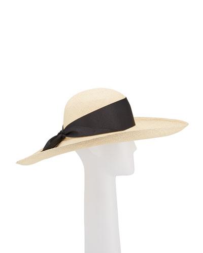 ed04eb239adca Lady Ibiza Straw Hat w  Bow Hat Band