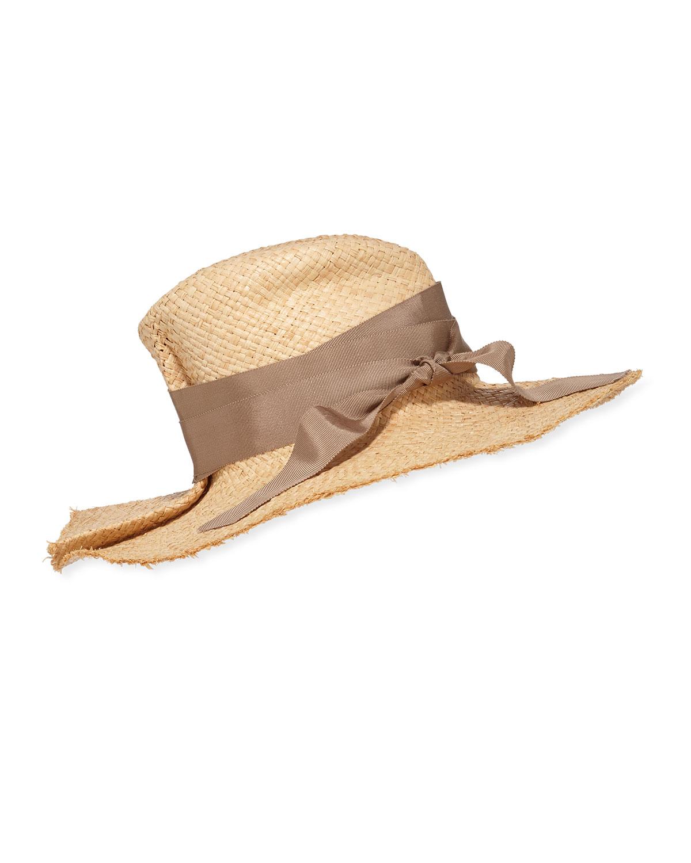 Lola Hats FIRST AID RAFFIA LARGE BRIM HAT