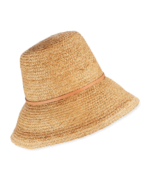 Lola Hats BEEHIVE RAFFIA BUCKET HAT
