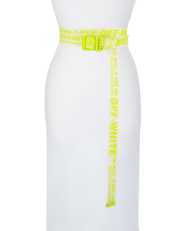 Off-White Belts Rubber Industrial Belt, TRANSPARENT FLUO