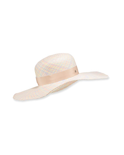 Pastel Straw Floppy Hat