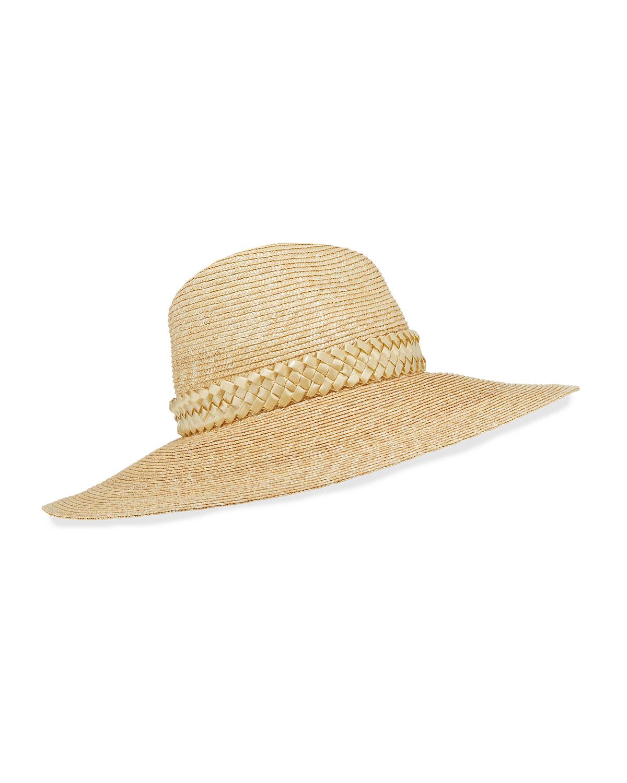 Gigi Burris Hats JEANNE HAND-BLOCKED STRAW PANAMA HAT