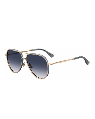 Trinys Glittered Aviator Sunglasses