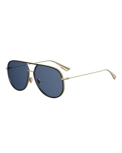 44c2489326c Aviator Cutout Metal Sunglasses