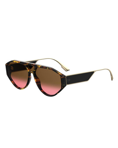 ee66fd234dd Dior Clan1 Oval Acetate   Metal Sunglasses