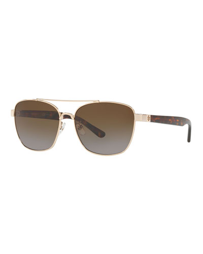 Polarized Square Metal Sunglasses