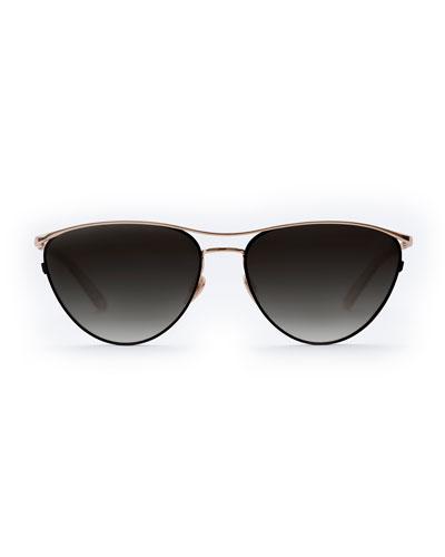 Cohn Titanium/Acetate Cat-Eye Sunglasses