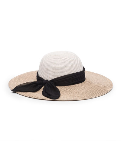Honey Floppy Sun Hat w/ Scarf Band
