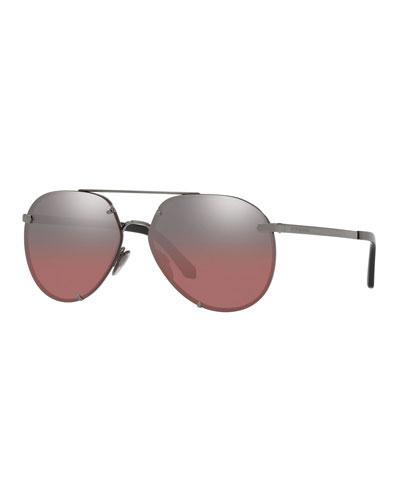 4ffe5b23af89b Mirrored Metal Aviator Sunglasses