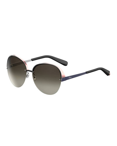 5418d7b437 Superb Semi-Rimless Round Titanium Sunglasses Quick Look. Dior