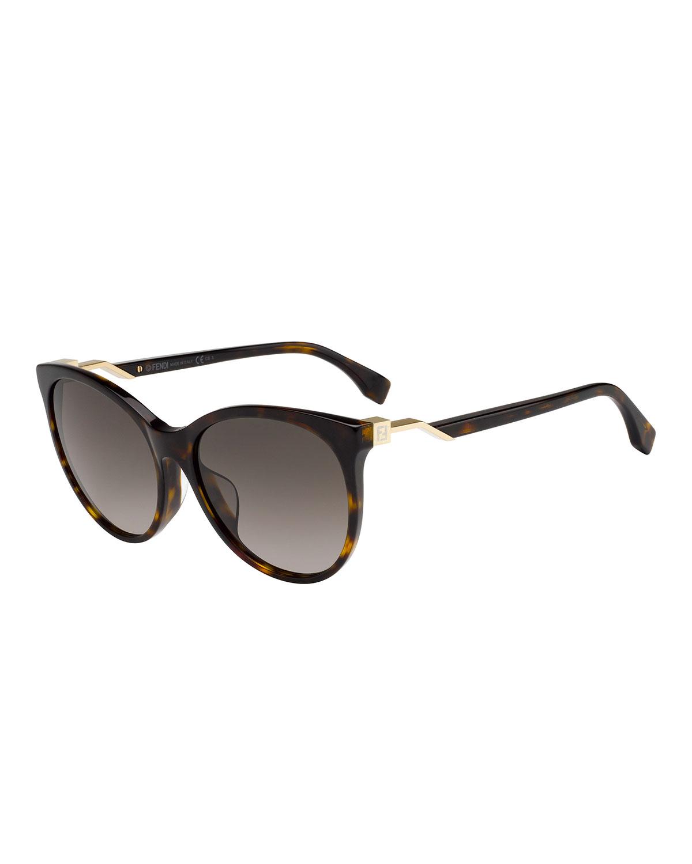 e8225cb5986 Fendi Round Gradient Sunglasses In Brown