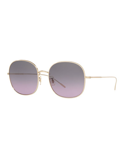 Mehrie Metal Square Sunglasses