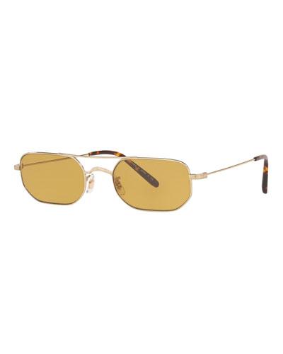 Indio Titanium Rectangle Sunglasses