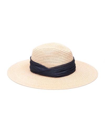 Emmanuelle Woven Sinamay Fedora Hat