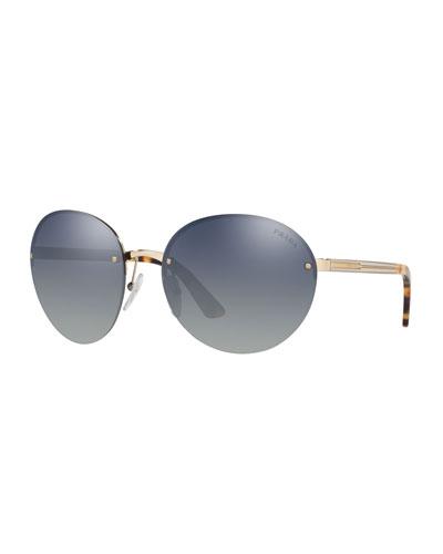 bb7d57cf8870 Rimless Acetate/Metal Sunglasses Quick Look. Prada