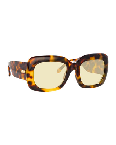 Chunky Rectangular Acetate Sunglasses