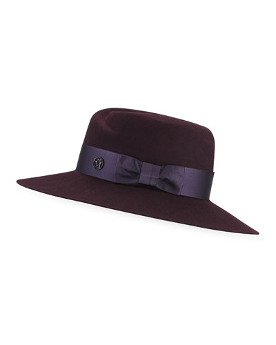 Virginie Rabbit Felt Fedora Hat w/ Satin Band